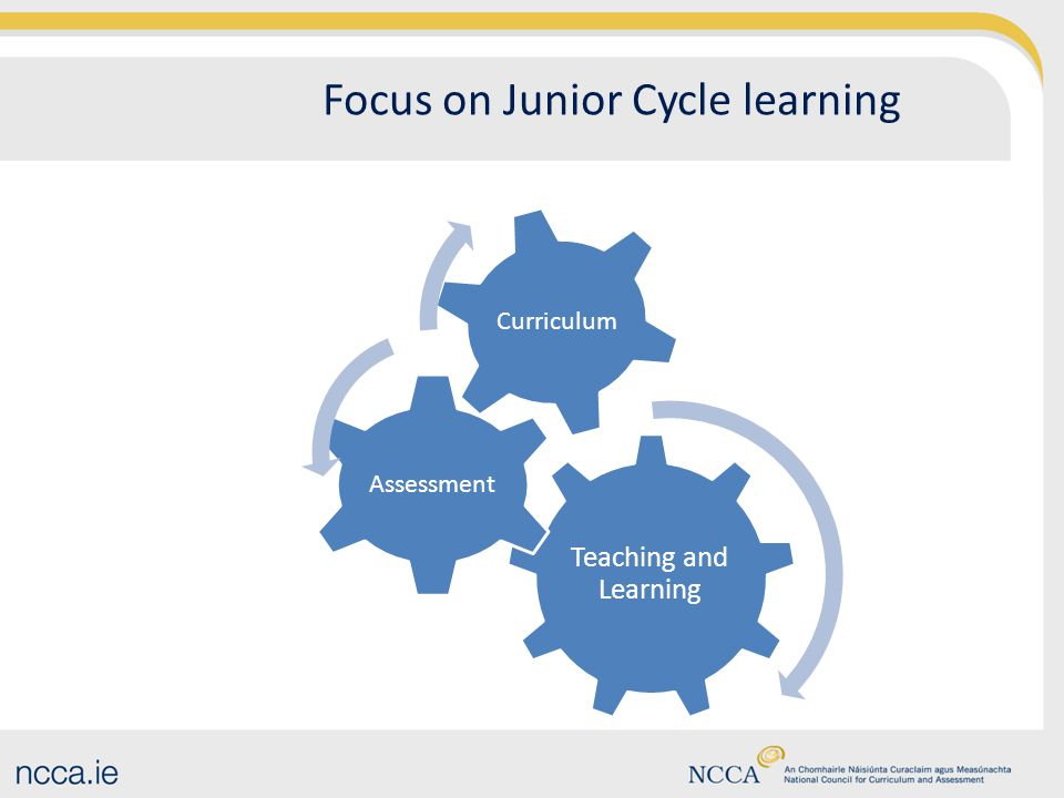 Focus on Junior Cycle learning Teaching and Learning Assessment Curriculum