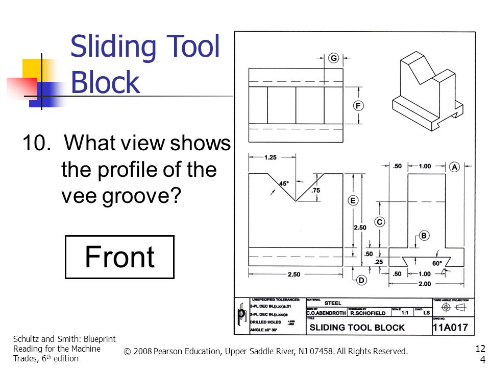 Schultz and Smith: Blueprint Reading for the Machine Trades, 6 th edition © 2008 Pearson Education, Upper Saddle River, NJ 07458.