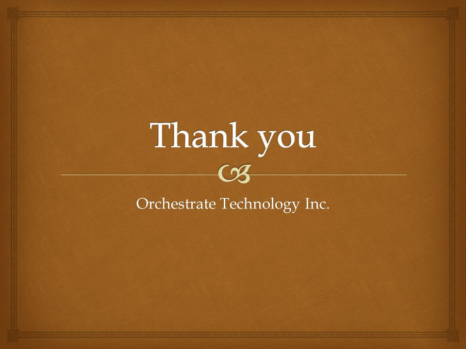 Orchestrate Technology Inc.