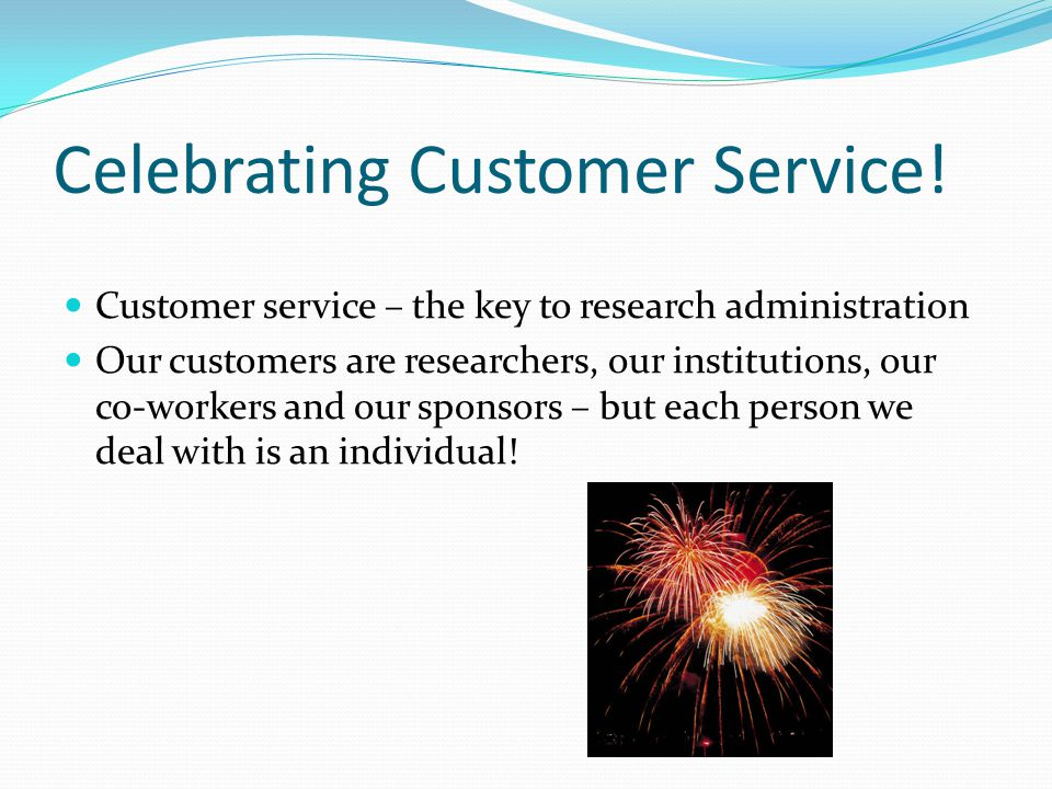 Celebrating Customer Service.