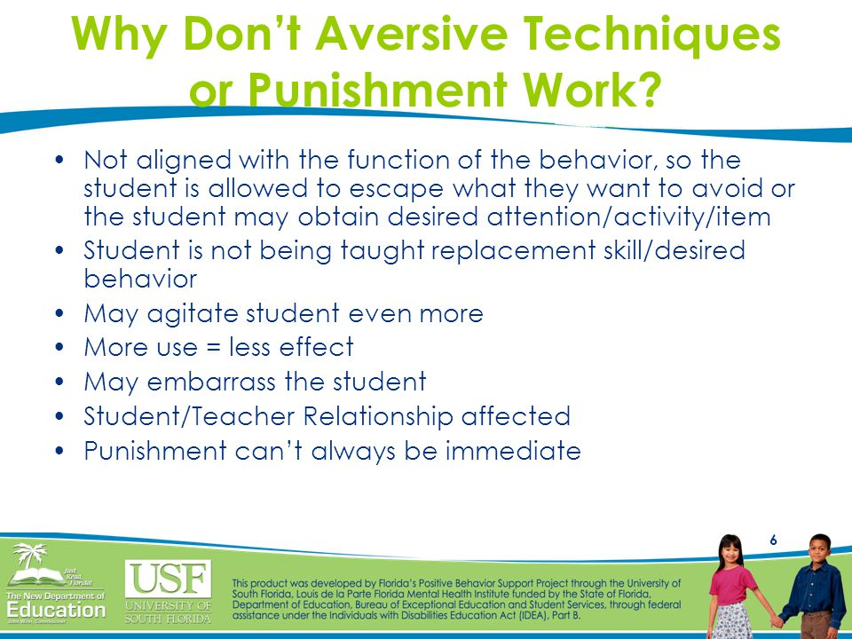 6 Why Don't Aversive Techniques or Punishment Work.