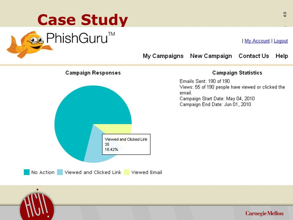 ©2012 Carnegie Mellon University : 65 Case Study