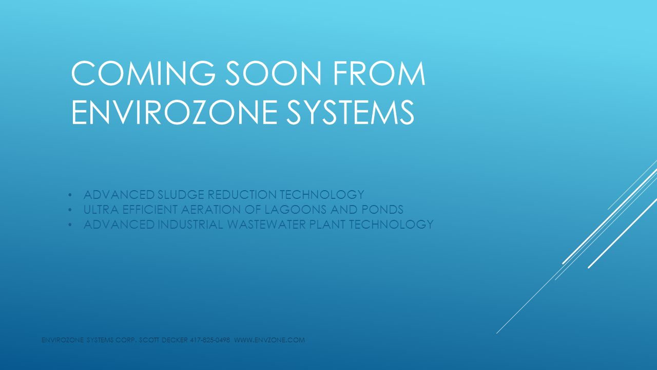 ENVIROZONE SYSTEMS CORP.