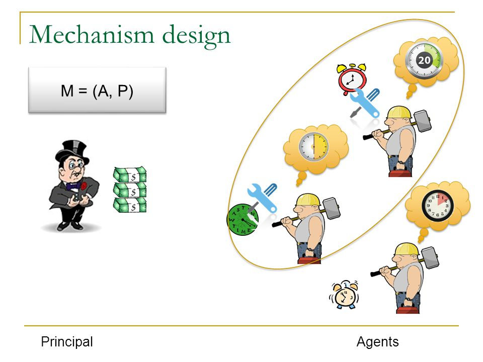 Mechanism design PrincipalAgents M = (A, P)