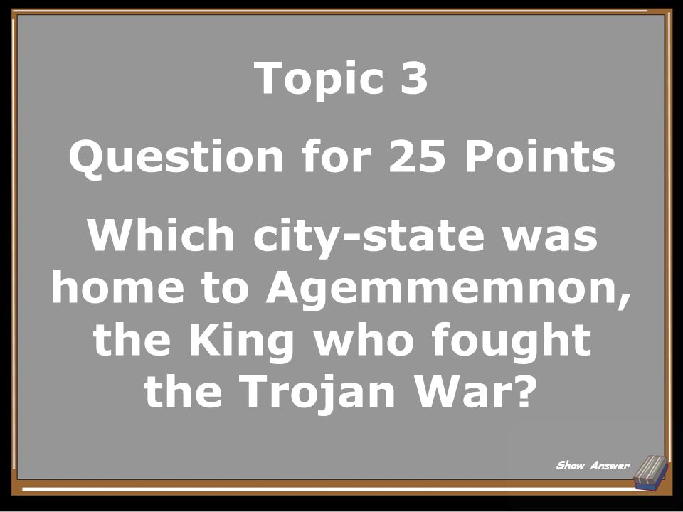 Topic 3 Answer for 20 Points The Agora Back to Board