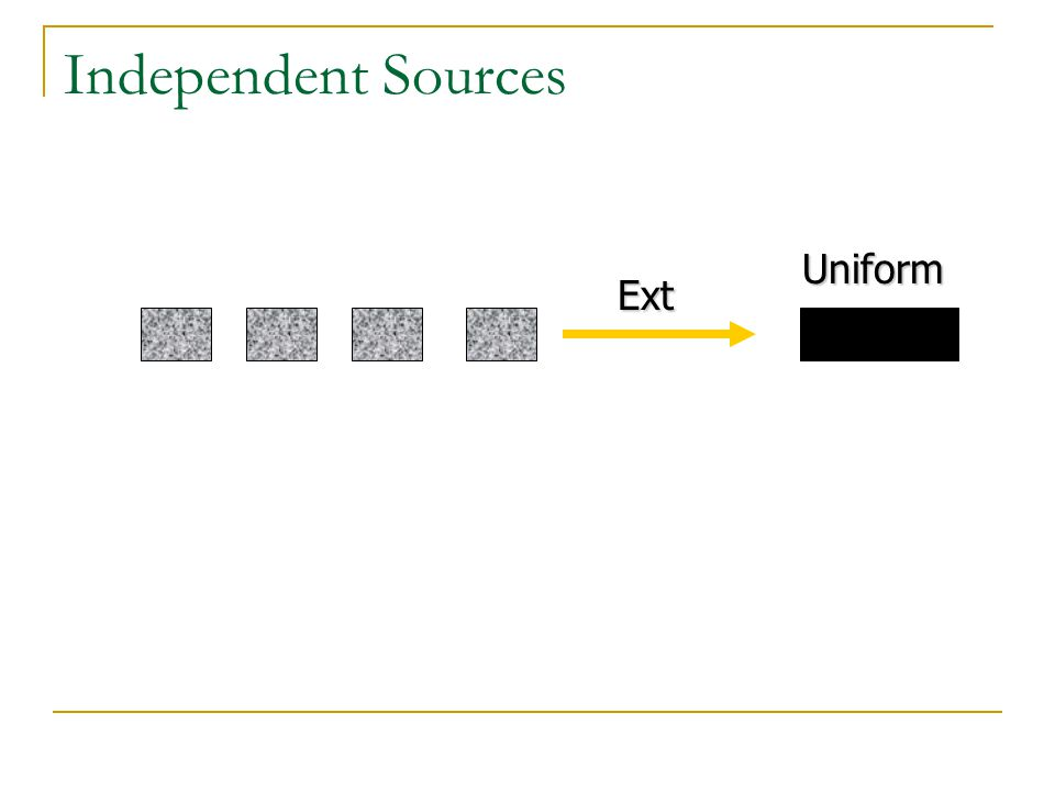 Independent Sources Ext Uniform