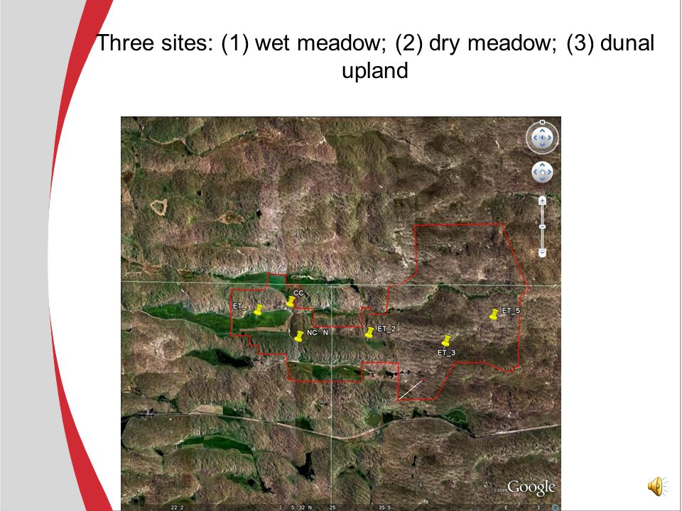 Verification of CREMAP results: -- two riparian forest locations (near Gothenburg and Odessa) -- three Sand Hills locations at the Gudmundsen Ranch -- one agricultural location near Mead