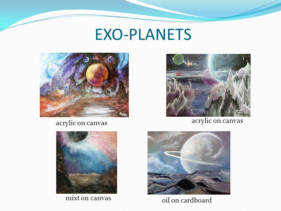 EXO-PLANETS acrylic on canvas oil on cardboard mixt on canvas