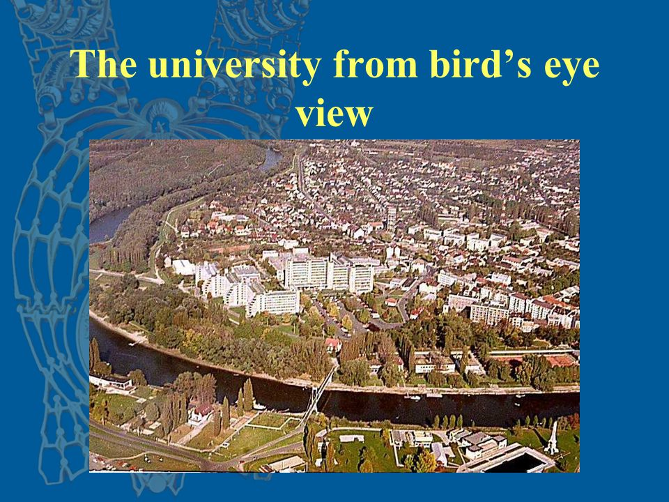 The university from bird's eye view