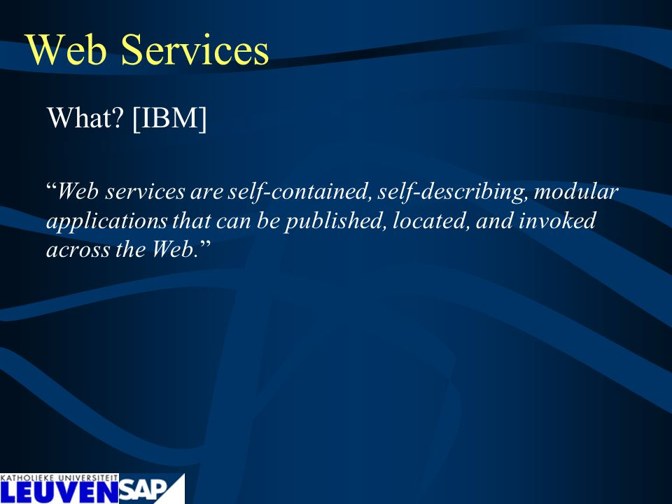 Web Services What.