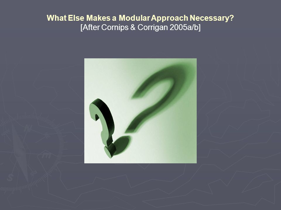 What Else Makes a Modular Approach Necessary [After Cornips & Corrigan 2005a/b]