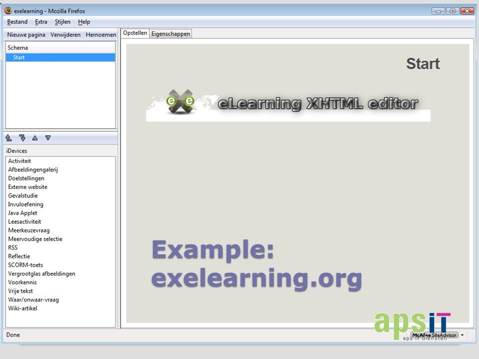 Example: exelearning.org