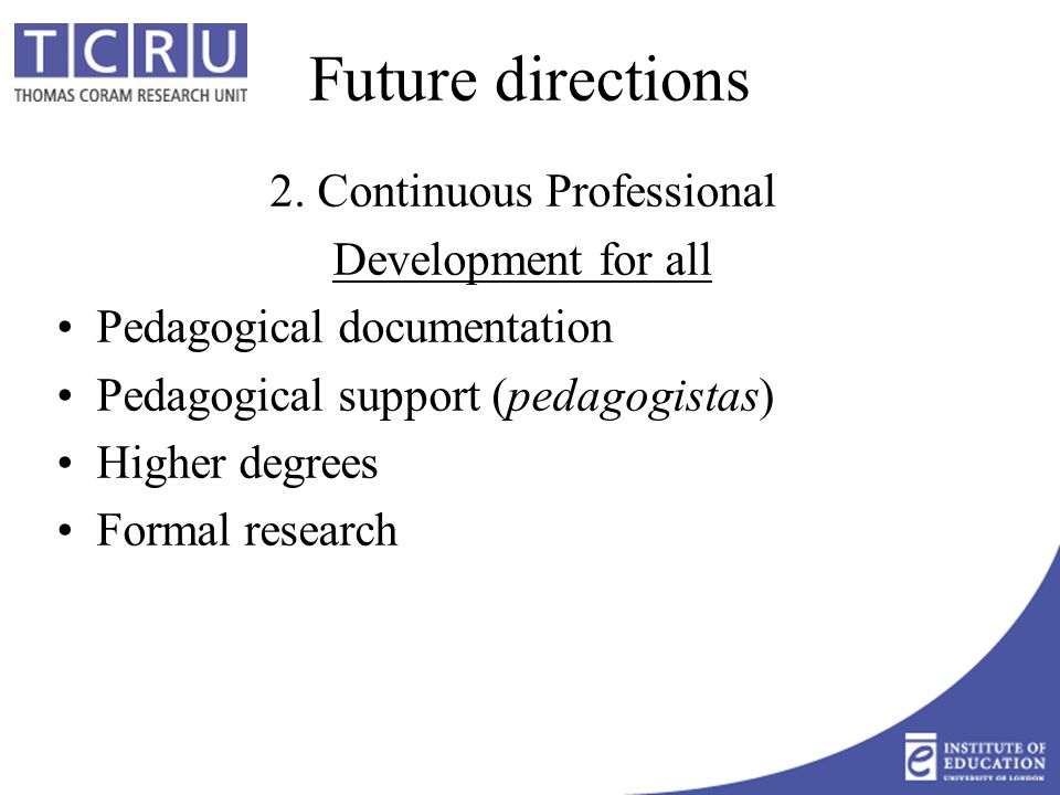 Future directions 2.