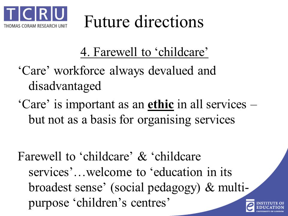 Future directions 4.