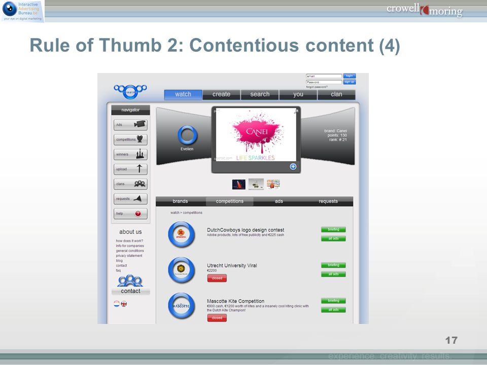 17 Rule of Thumb 2: Contentious content (4)