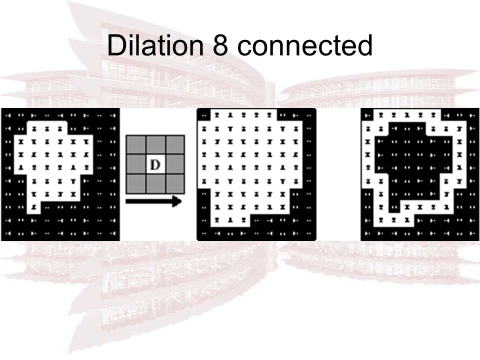 Dilation 8 connected