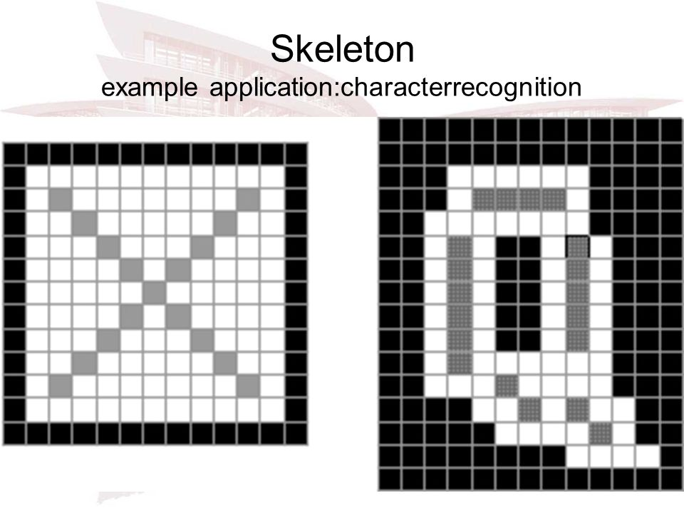 Skeleton example application:characterrecognition