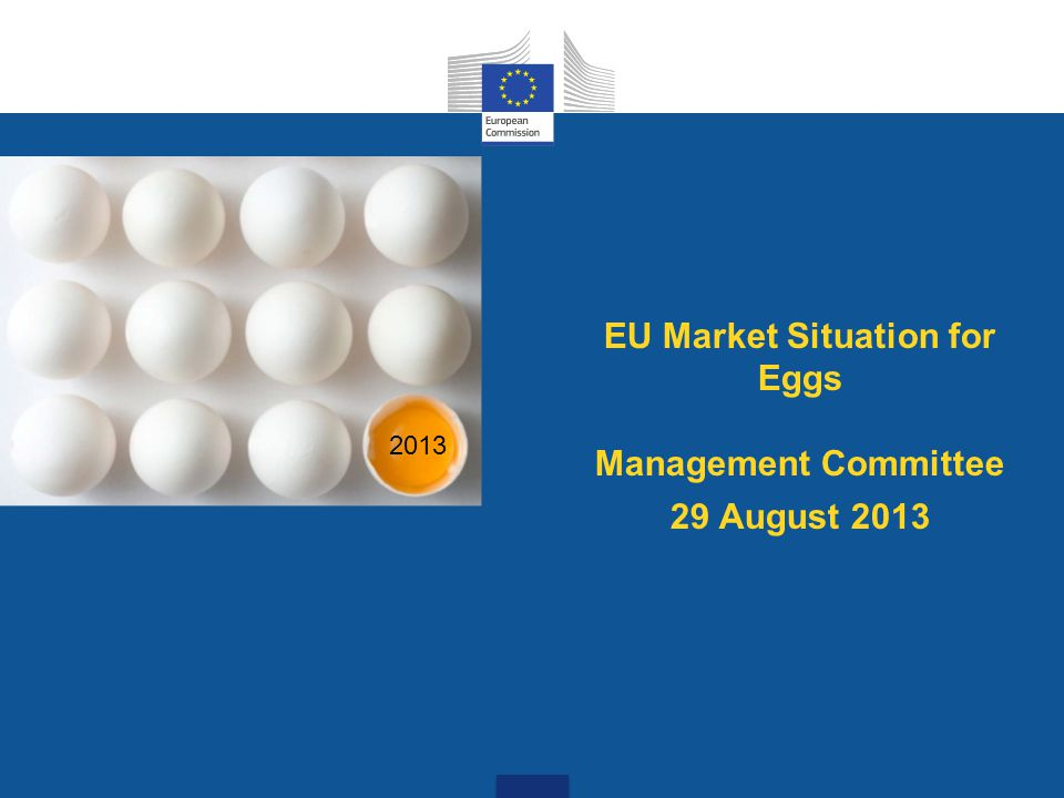 EU Market Situation for Eggs Management Committee 29 August 2013 2013