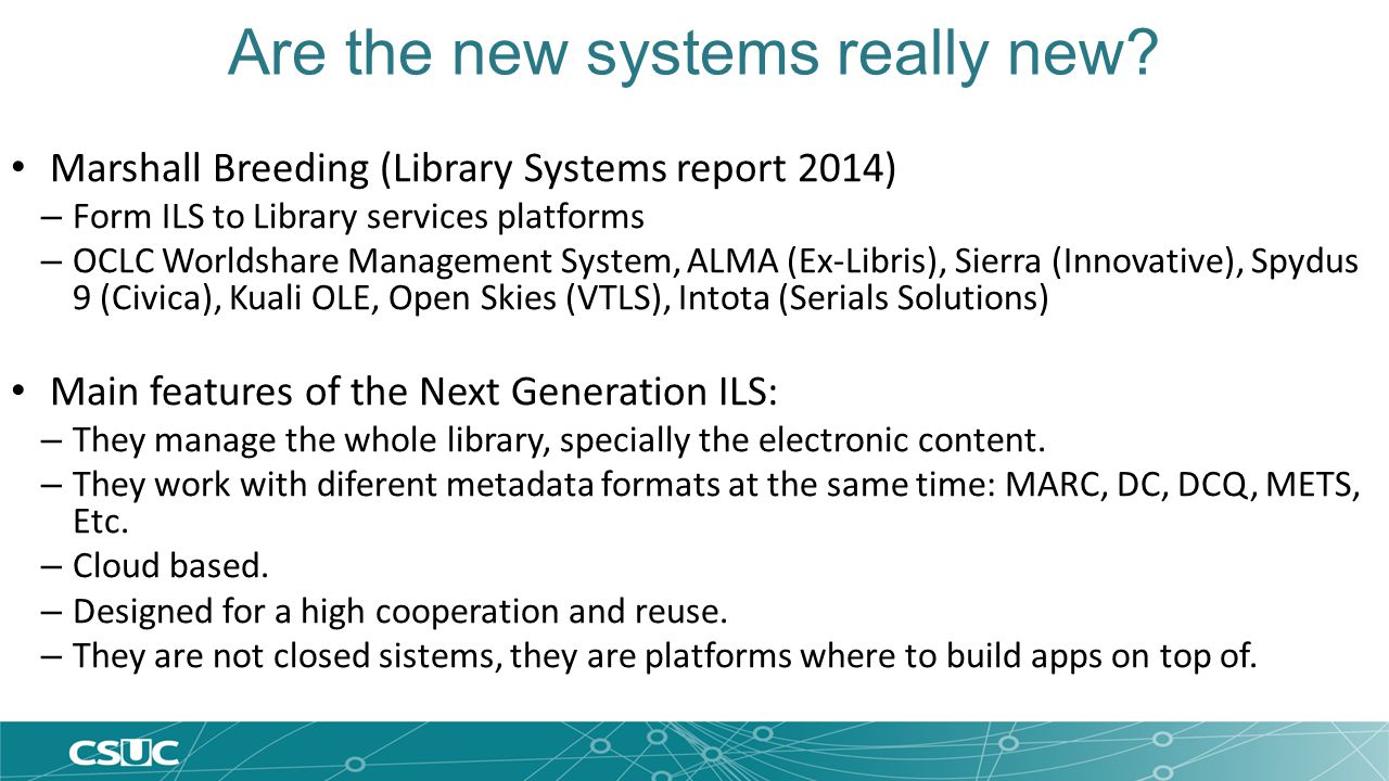 Are the new systems really new.