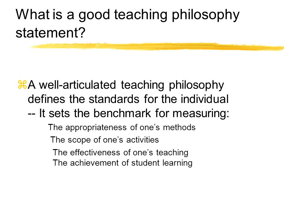 What is a good teaching philosophy statement.