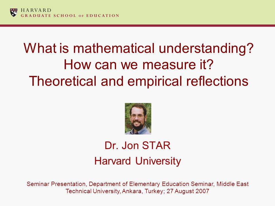 What is mathematical understanding. How can we measure it.