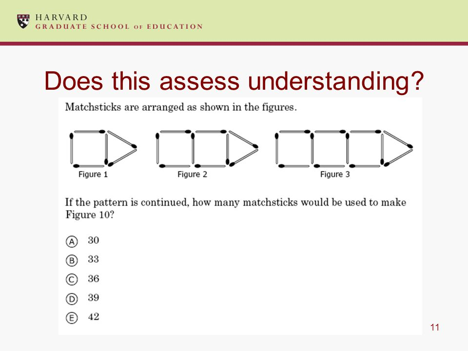 11 Does this assess understanding