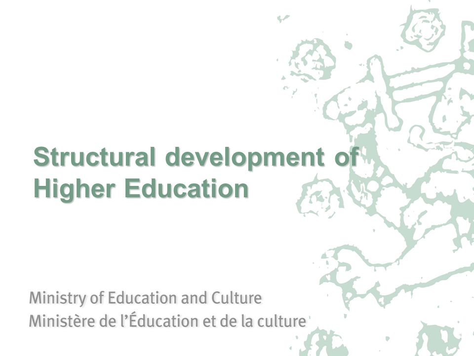 Structural development of Higher Education