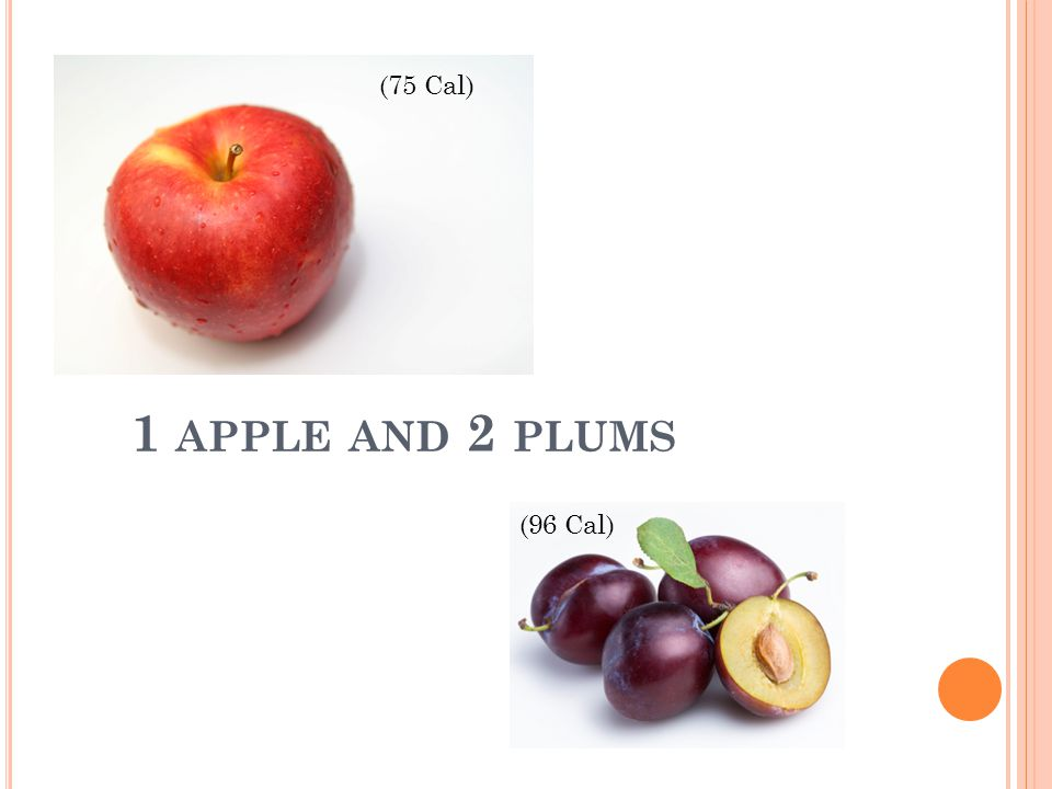 1 APPLE AND 2 PLUMS (75 Cal) (96 Cal)