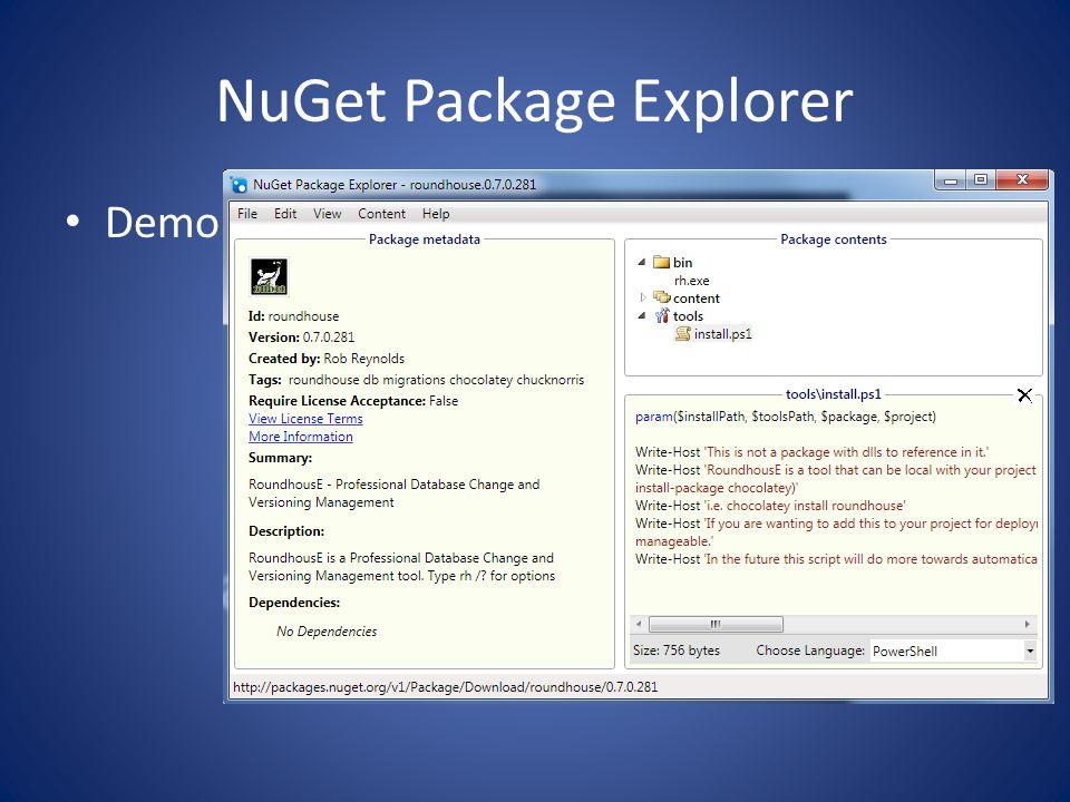 nuget package explorer download installer