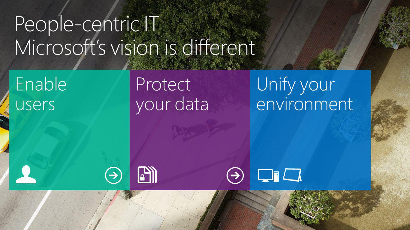 People-centric IT Microsoft's vision is different