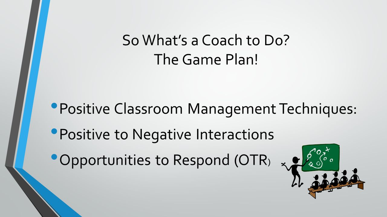 So What's a Coach to Do. The Game Plan.