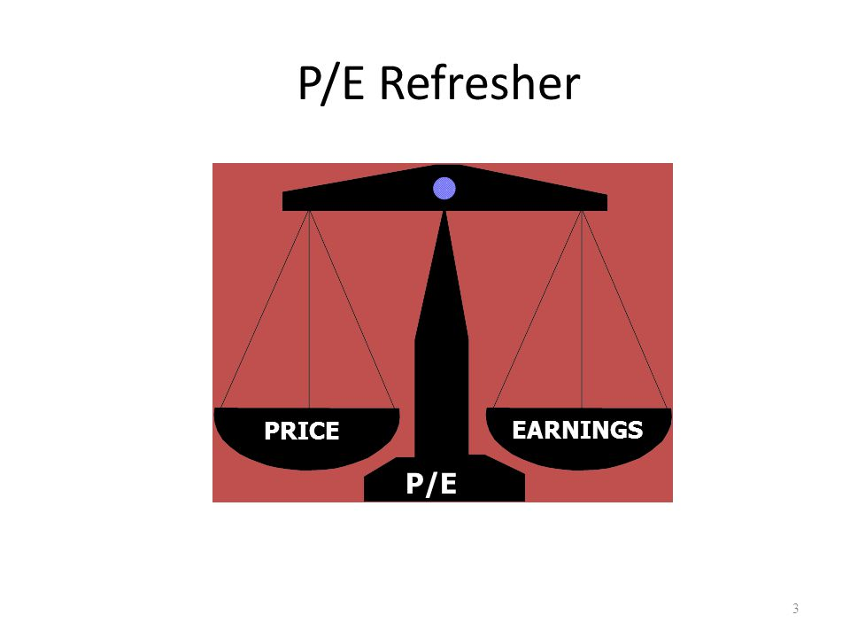 P/E Refresher 3 PRICEEARNINGS P/E Created by Gretchen Hurt Amendments by Craig Jacobsen