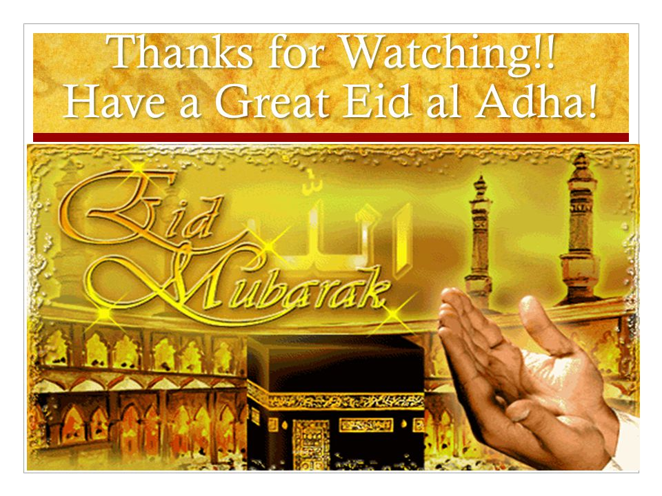 Thanks for Watching!! Have a Great Eid al Adha!
