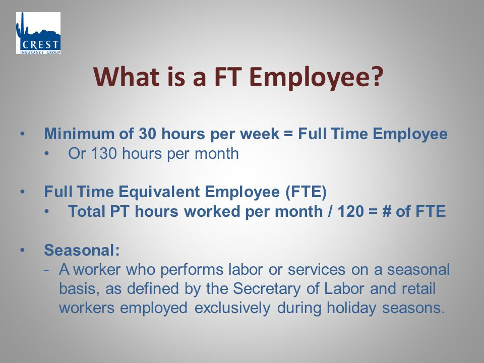 What is a FT Employee.
