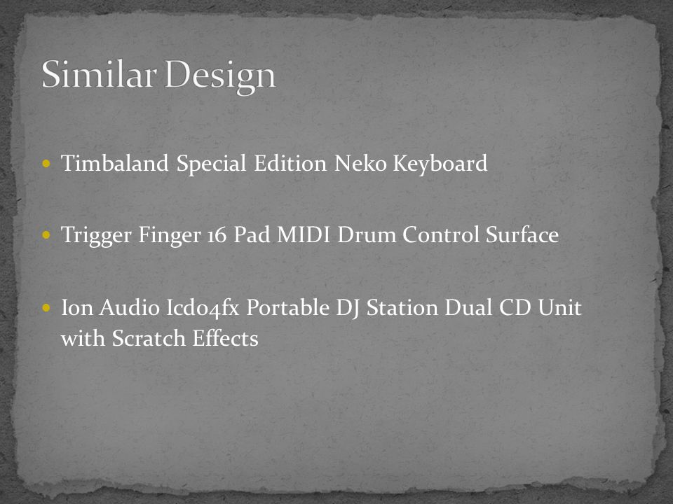 Timbaland Special Edition Neko Keyboard Trigger Finger 16 Pad MIDI Drum Control Surface Ion Audio Icd04fx Portable DJ Station Dual CD Unit with Scratch Effects
