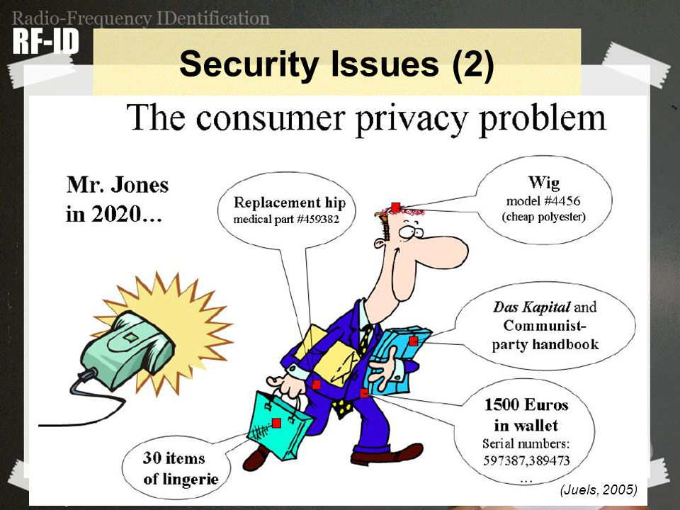 Security Issues (2) (Juels, 2005)