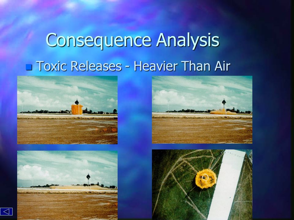 Consequence Analysis n Toxic Releases - Heavier Than Air