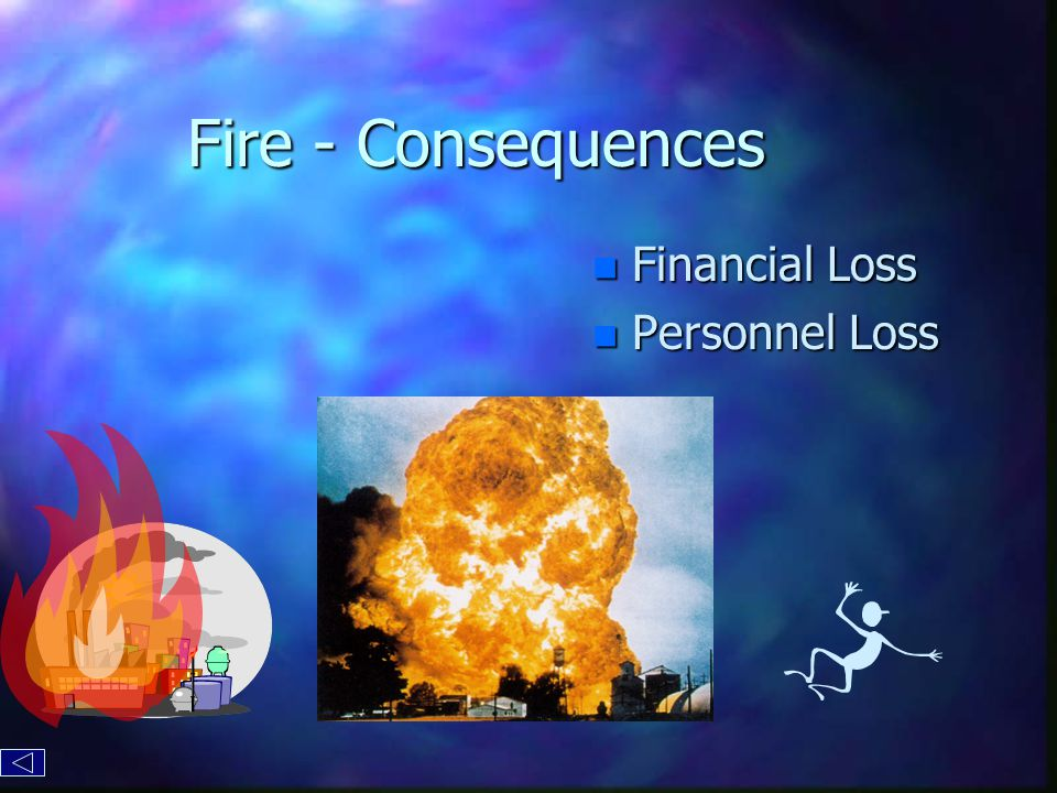 Fire - Consequences n Financial Loss n Personnel Loss