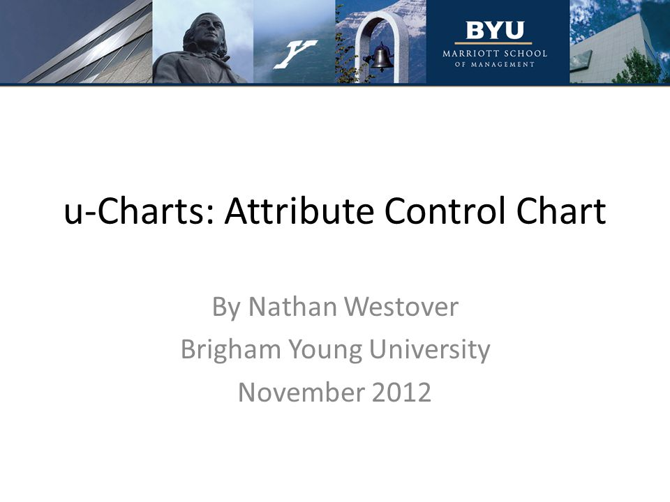 u-Charts: Attribute Control Chart By Nathan Westover Brigham Young University November 2012
