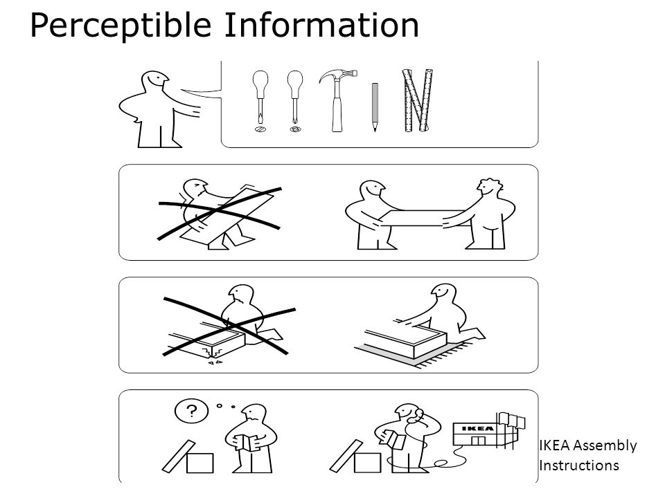 Perceptible Information IKEA Assembly Instructions