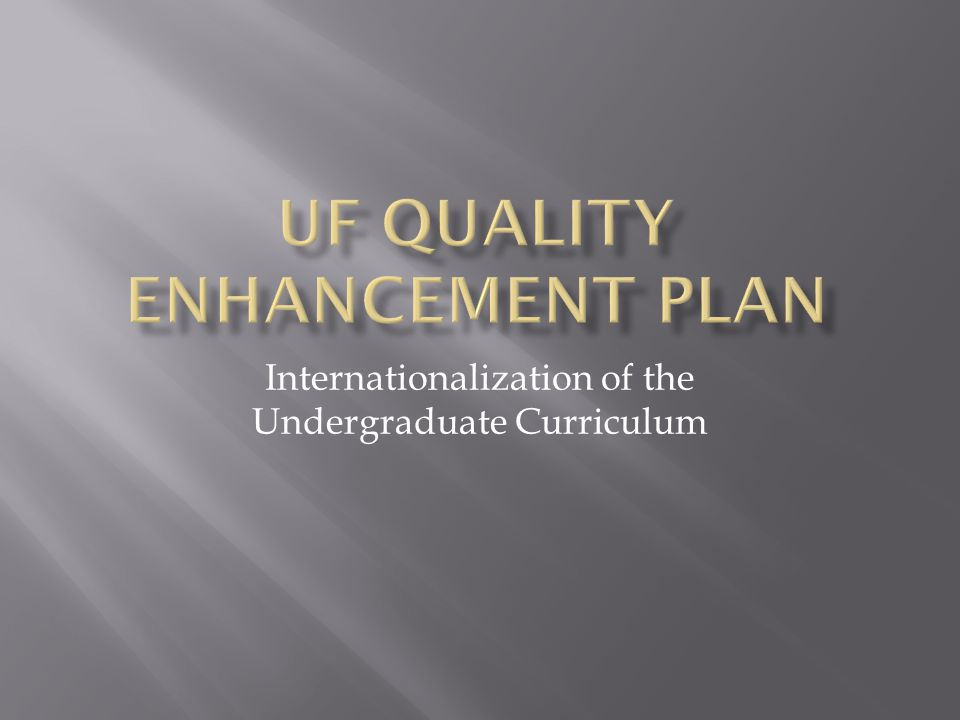 Internationalization of the Undergraduate Curriculum
