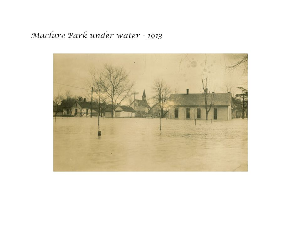 Maclure Park under water - 1913