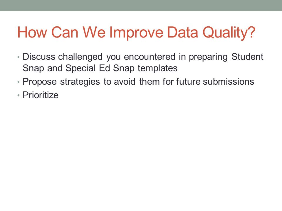 How Can We Improve Data Quality.