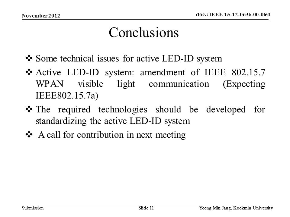 doc.: IEEE 802.15-xxxxx Submission doc. : IEEE 802.