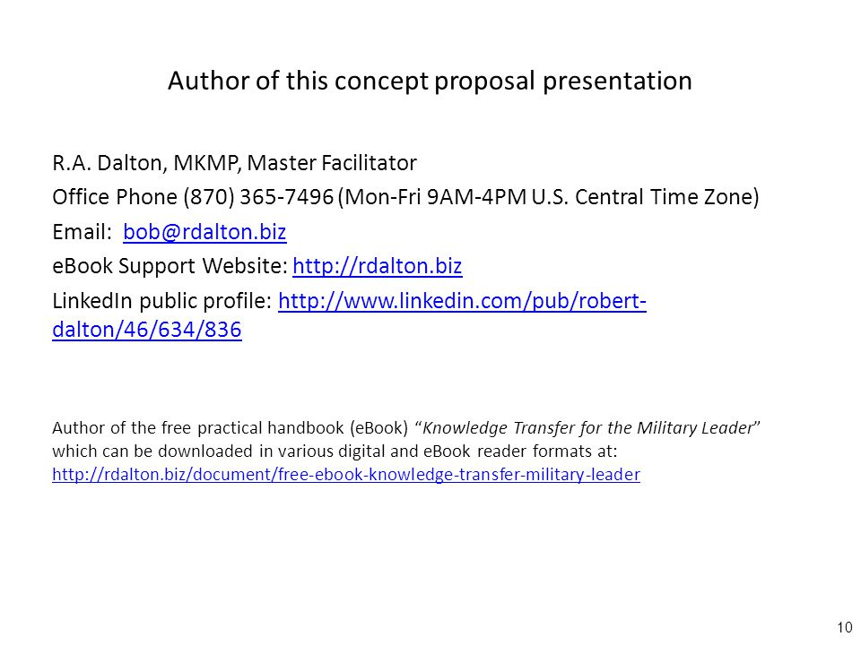 Author of this concept proposal presentation R.A.