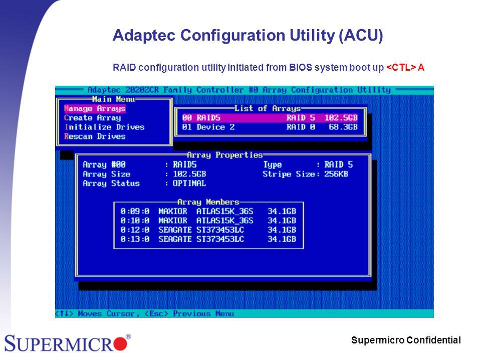 Supermicro Confidential Supermicro All-in-One Zero-Channel RAID (ZCR
