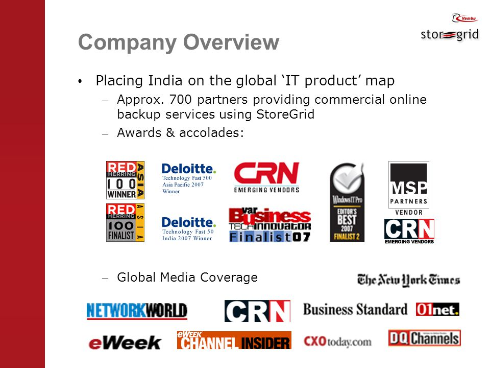 Company Overview Placing India on the global 'IT product' map – Approx.