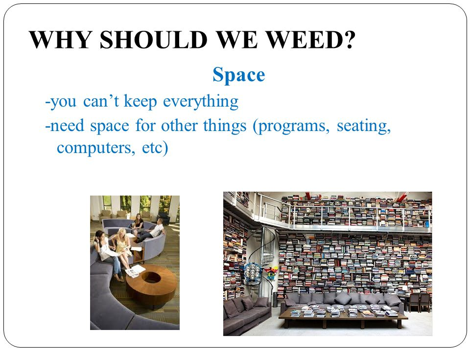 WHY SHOULD WE WEED.