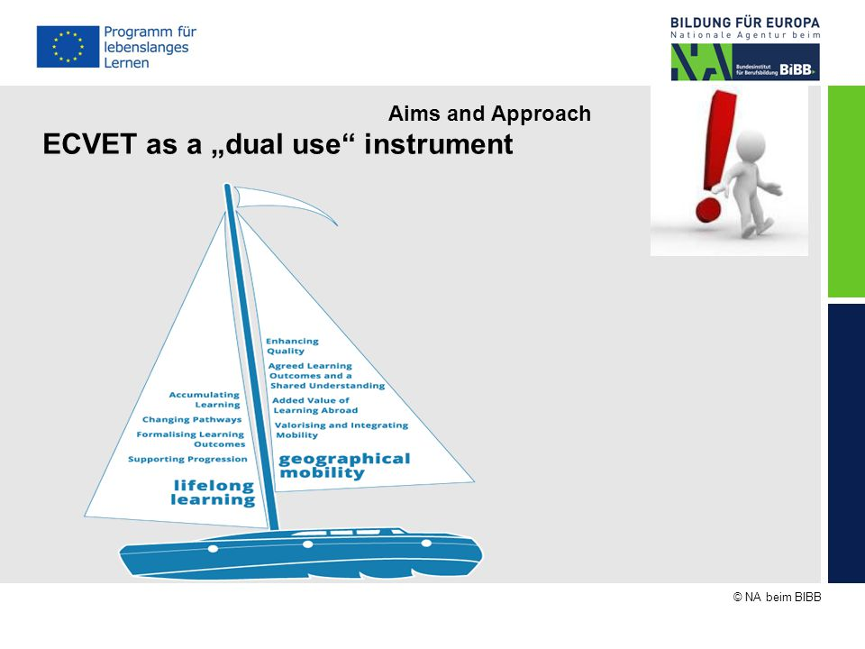 "© NA beim BIBB Aims and Approach ECVET as a ""dual use instrument"