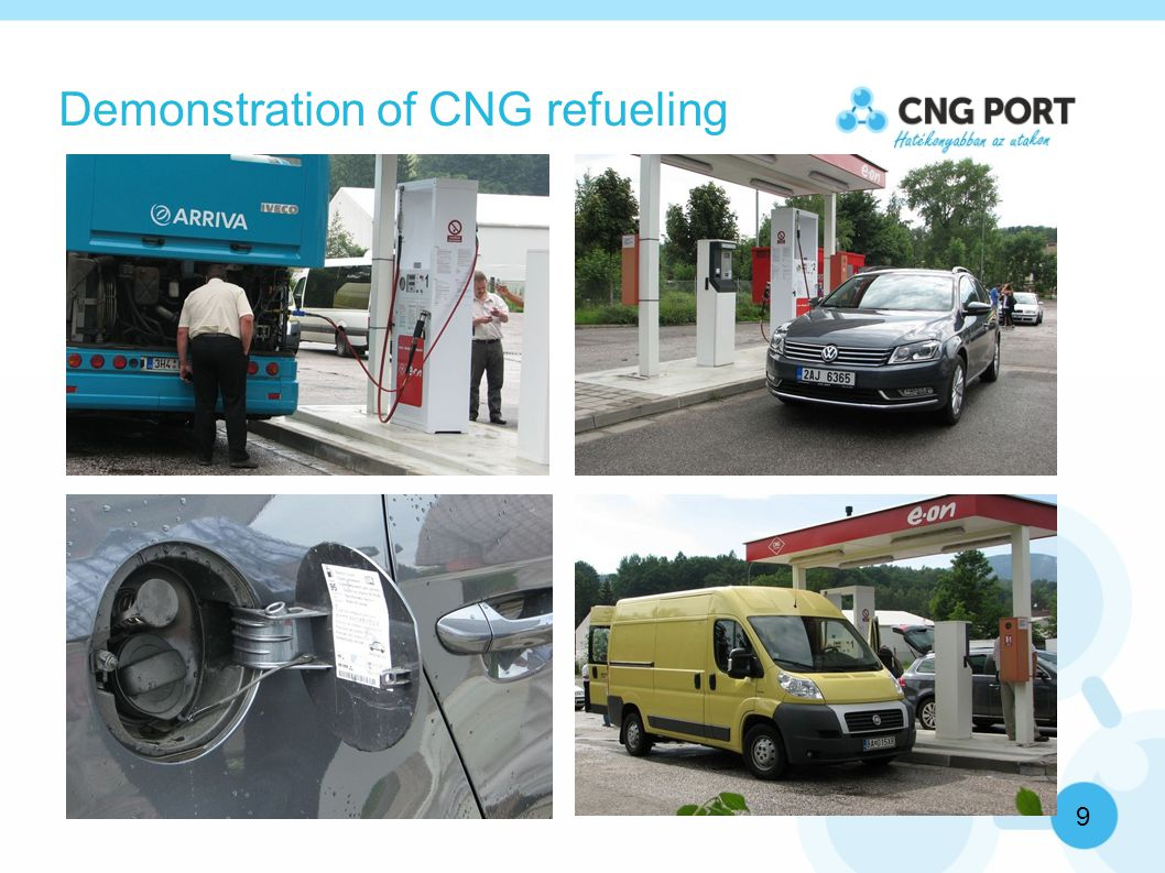 Demonstration of CNG refueling 9